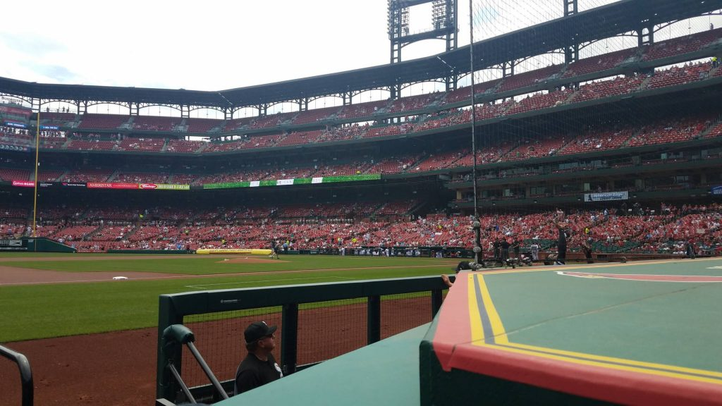 Busch Stadium protective netting