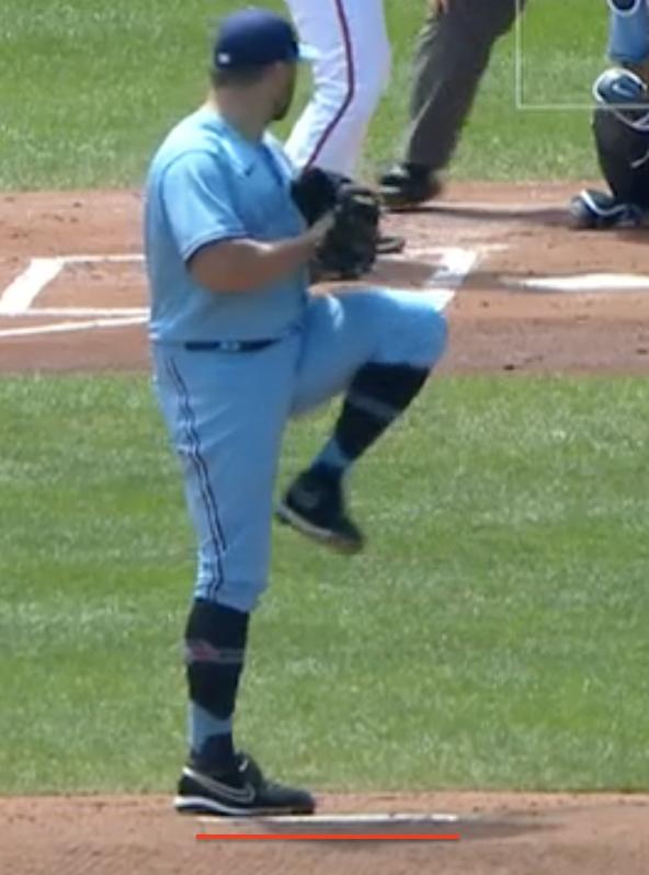 Tanner Roark position on rubber, season average